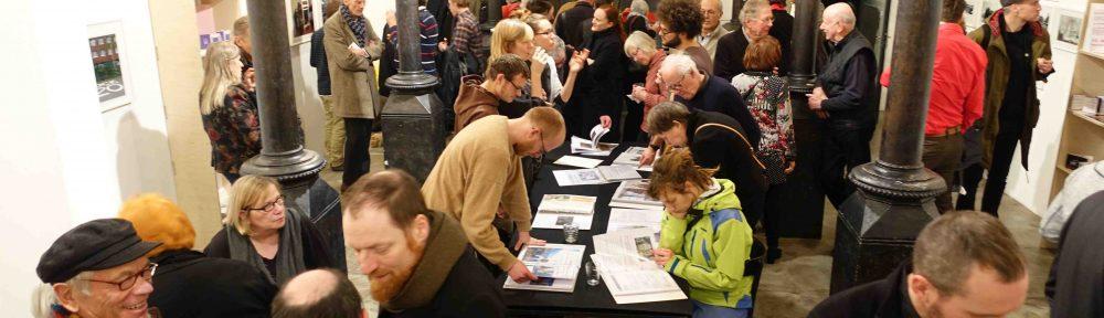 """Bilderbogen: Eröffnung """"Das Münzviertel Archiv"""" 7.12.17 Galerie Renate Kammer"""