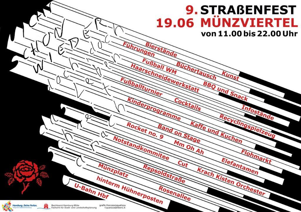Plakat 9. Straßenfest (Grafik: Francesco Qualizza)